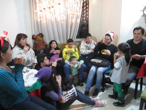 Co-worker Pilar's family during Novena