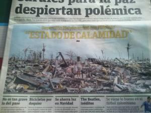 Phil. calamity made it headline